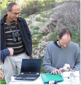Hebrew University Professor Ran Nathan and Graduate Student David Shohami Courtesy of David Shohami