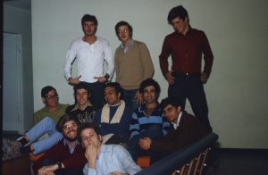 Steven with friends in the Resnick dorms