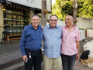 Steven reuniting with Nahum and Herzl in 2018