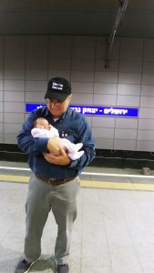 Steven with his granddaughter