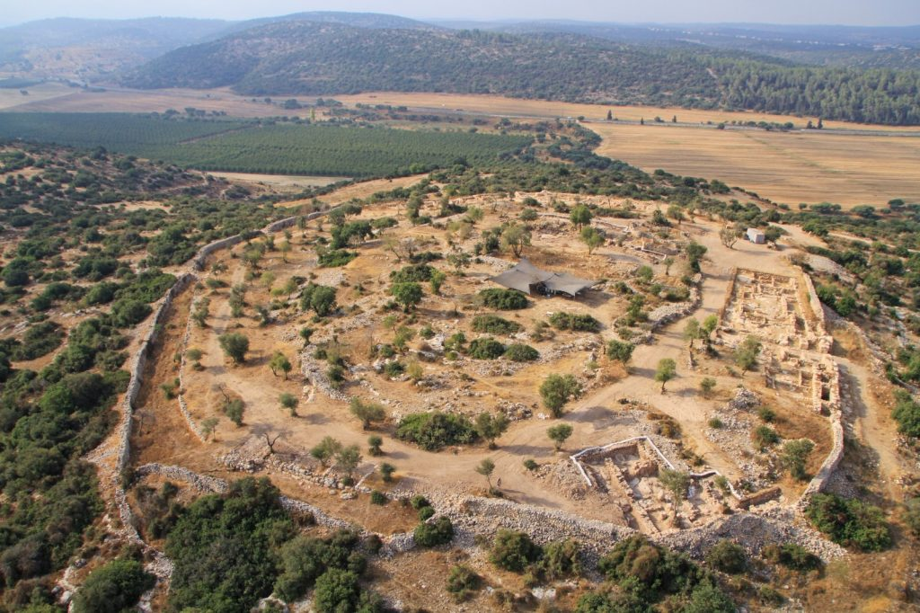 Bird's Eye View of Khirbet Qeiyafa_ Courtesy of Khirbet Qeiyafa Expedition