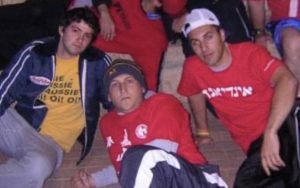 Kaplowitz and friends Ari Derman and Jonathan Plaut hanging out in Jerusalem in 2005
